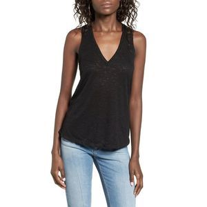 Project Social T Raw Edge V-Neck Tank Top XS